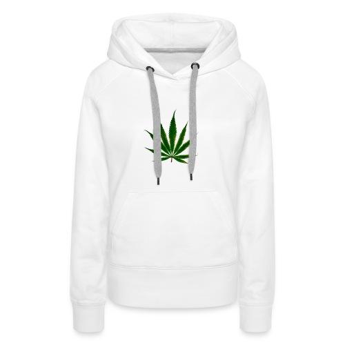 cannabis leaf - Sweat-shirt à capuche Premium pour femmes