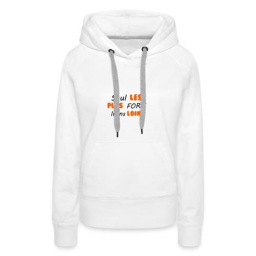 SegnoBoutiqueFr - Sweat-shirt à capuche Premium pour femmes