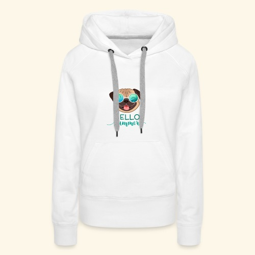 Summer Pug - Women's Premium Hoodie