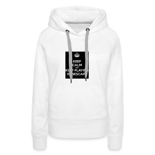 keep-calm-and-keep-playing-runescape - Vrouwen Premium hoodie