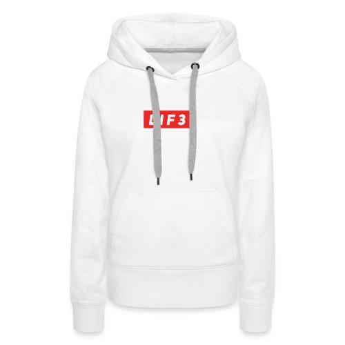 LIF3 Original Box Logo - Premiumluvtröja dam
