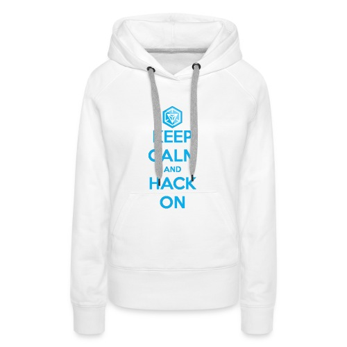keep calm and hack on - Felpa con cappuccio premium da donna