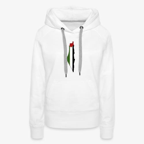 Palestine - Sweat-shirt à capuche Premium pour femmes
