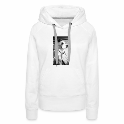 Perro - Sudadera con capucha premium para mujer