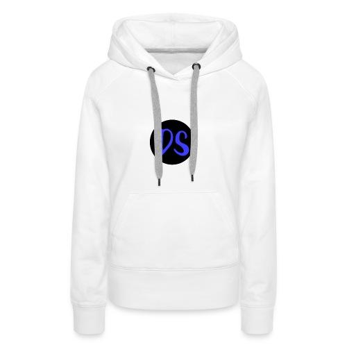 Logo DailySimón - Sudadera con capucha premium para mujer