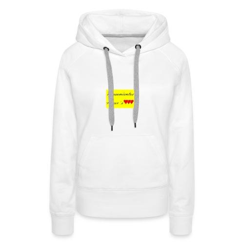 Pensamientos-png - Sudadera con capucha premium para mujer