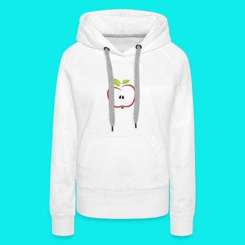 halber Apfel - Frauen Premium Hoodie