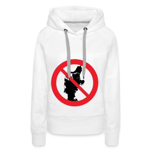 Jylland forbudt - Bestsellere - Dame Premium hættetrøje