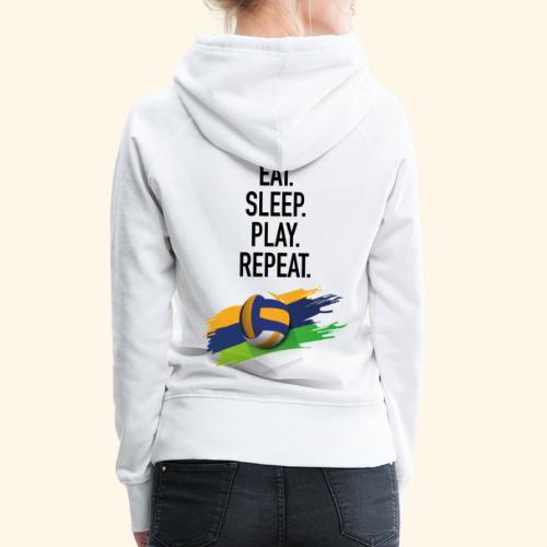 Eat.Sleep.Play.Repeat. - Frauen Premium Hoodie