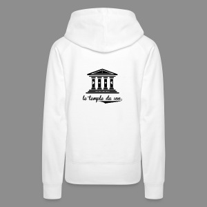 The Temple's White Classic - Women's Premium Hoodie