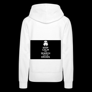 keep calm and search for the droids - Women's Premium Hoodie