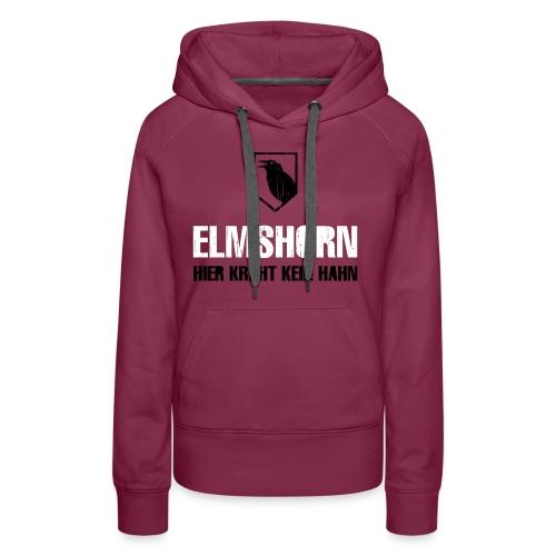 Elmshorn Kraehe schwarz-weiß - Frauen Premium Hoodie