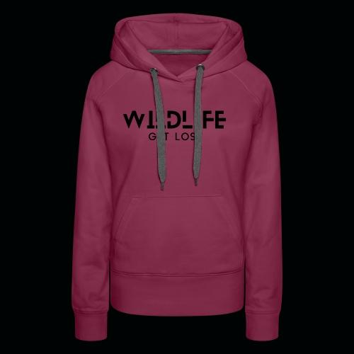 SCRITTA WILDLIFE - Felpa con cappuccio premium da donna