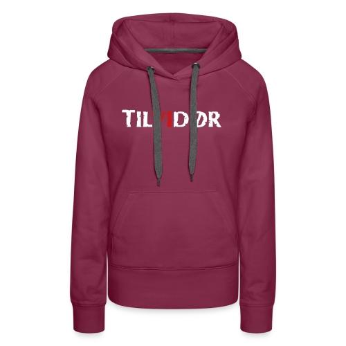 TILVIDØR LOGO - Dame Premium hættetrøje