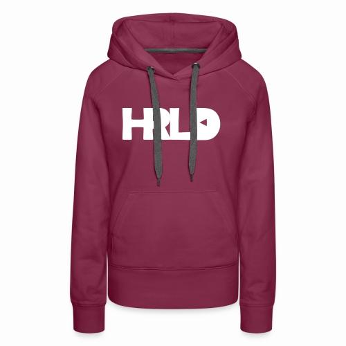 HRLD White Logo - Naisten premium-huppari