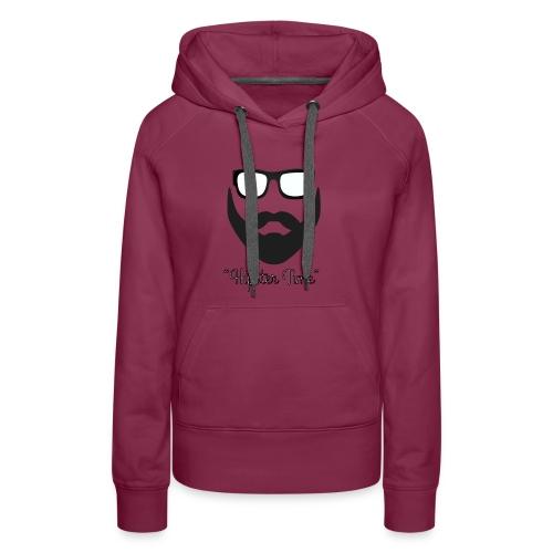 Hipster time - Sudadera con capucha premium para mujer