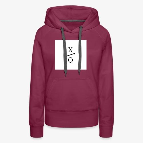 X/0 logo square - Premiumluvtröja dam