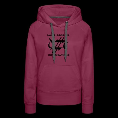 Dark-Code Black Gothic Logo - Sweat-shirt à capuche Premium pour femmes