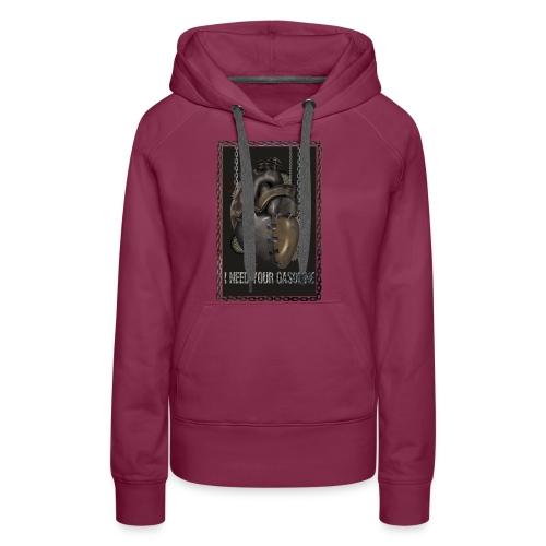 corazón sin gasolina - Sudadera con capucha premium para mujer