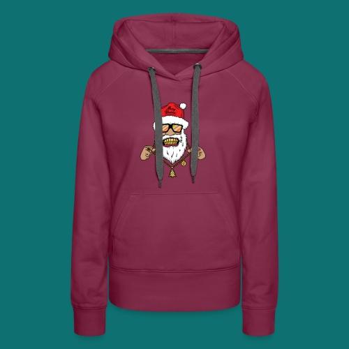 Dope Santa - Felpa con cappuccio premium da donna