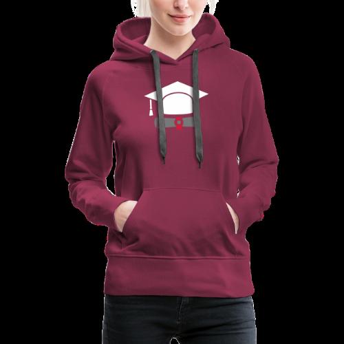 Doktorhut mit Zeugnis - Geschenk zum Abschluss - Frauen Premium Hoodie