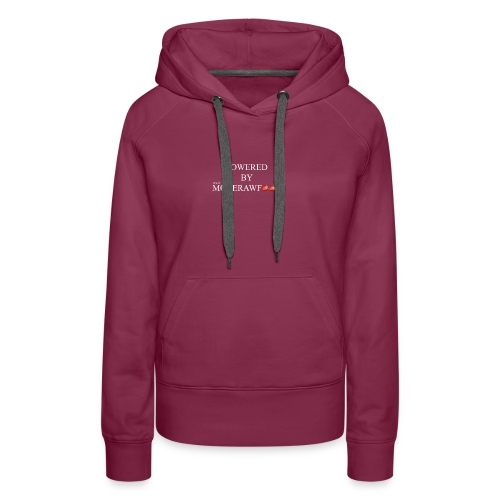 POWERED BY MORERAWFOOD WEISSER TEXT - Frauen Premium Hoodie