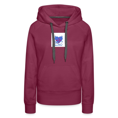 Logo Mon Dover - Felpa con cappuccio premium da donna