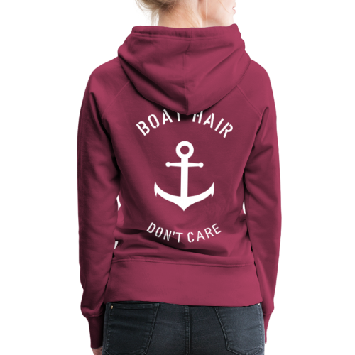 Boat Hair Dont Care - Anker - Frauen Premium Hoodie