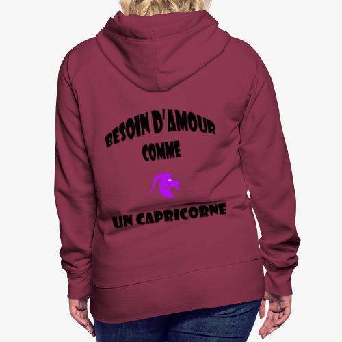 capricorne - Sweat-shirt à capuche Premium pour femmes