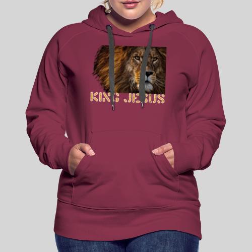 König Jesus der Löwe von Juda - Frauen Premium Hoodie
