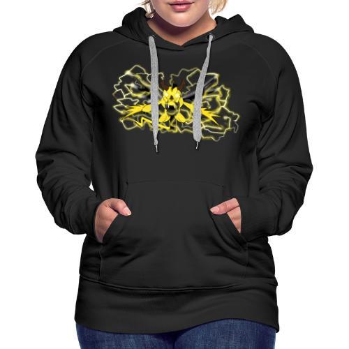 Fulgur il drago elettrizzante - Felpa con cappuccio premium da donna