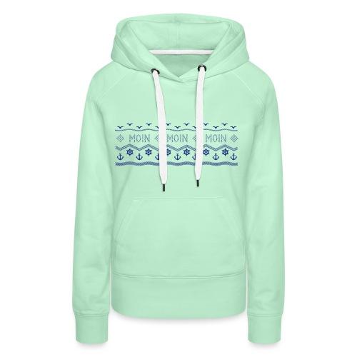 Muster Nordisch Maritim - Frauen Premium Hoodie
