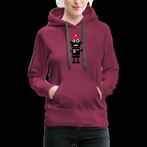 Roboter mit Doktorhut Geschenk zur Promotion - Frauen Premium Hoodie