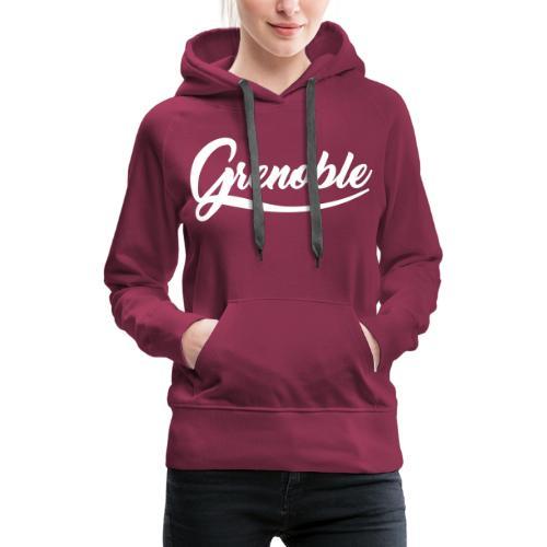 grenoble, old school - Sweat-shirt à capuche Premium pour femmes