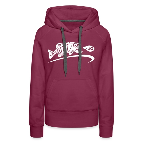 logo-tribal-blanc-notext - Sweat-shirt à capuche Premium pour femmes