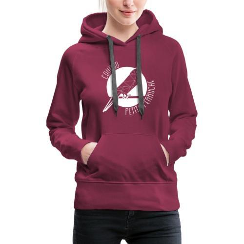Coucou Petite Perruche - Sweat-shirt à capuche Premium pour femmes