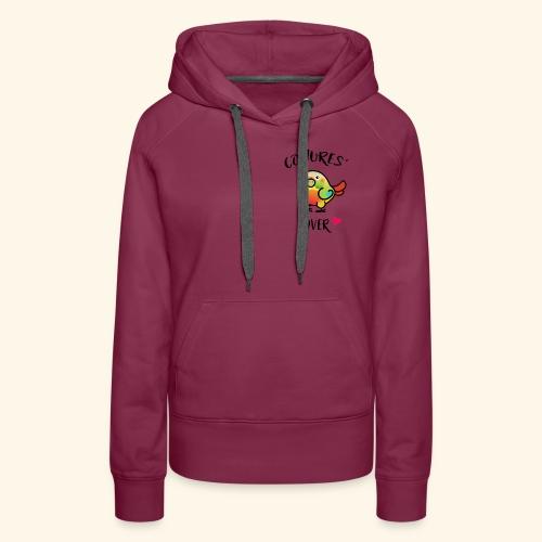 Conures' Lover: Ananas - Sweat-shirt à capuche Premium pour femmes