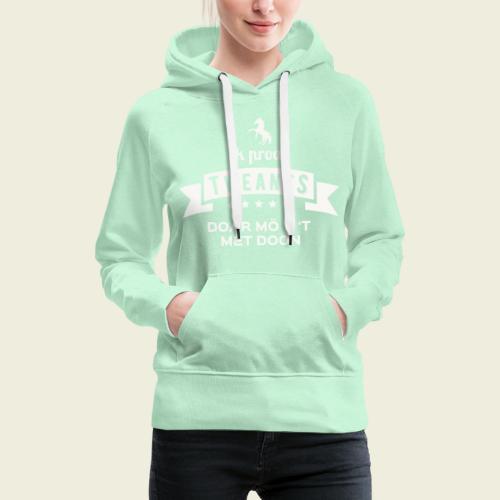 Ik proat Tweants...(lichte tekst) - Vrouwen Premium hoodie
