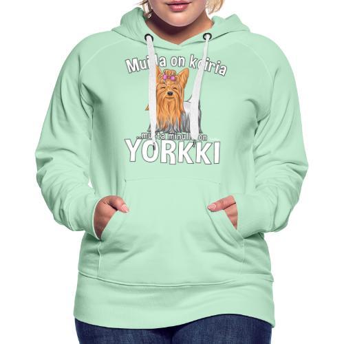 Yorkki Koiria - Naisten premium-huppari
