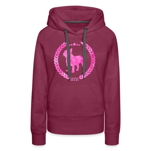 French Bulldog Army Pink - Women's Premium Hoodie
