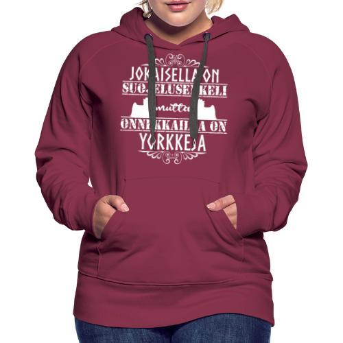 Yorkshirenterrieri Enkeli 4 - Naisten premium-huppari