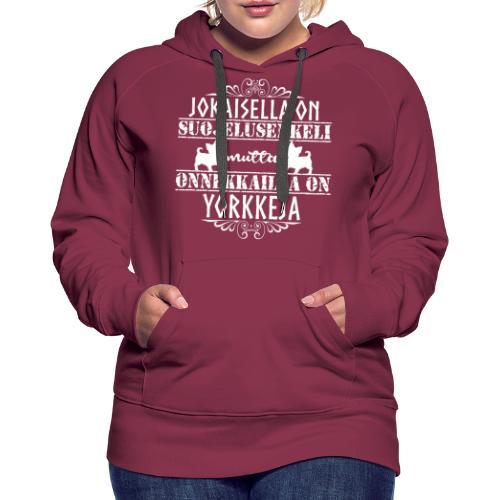 Yorkshirenterrieri Enkeli 7 - Naisten premium-huppari