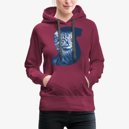 Siberian Cat S Blue - Naisten premium-huppari