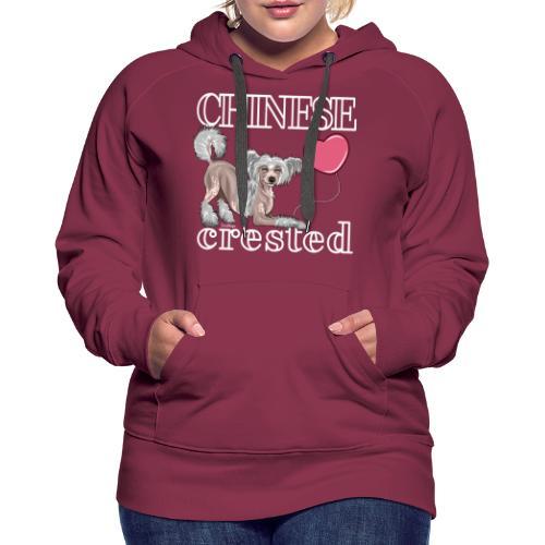 Chinese Crested II - Naisten premium-huppari