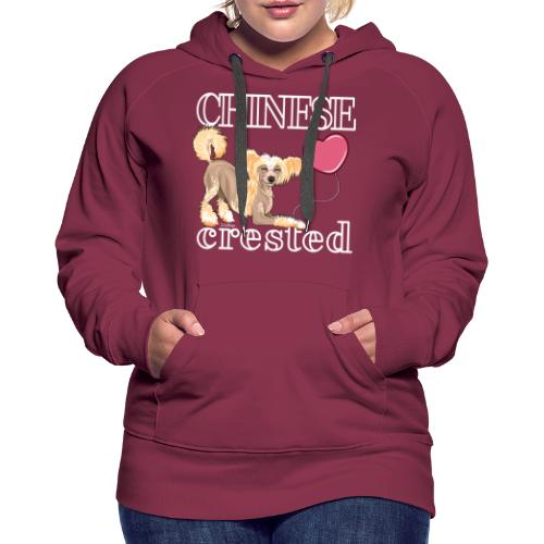 Chinese Crested V - Naisten premium-huppari