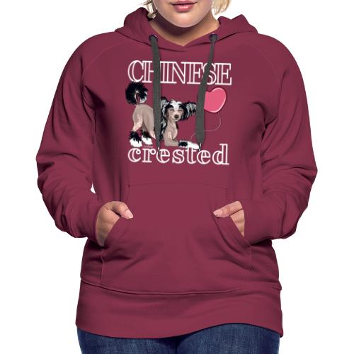 Chinese Crested III - Naisten premium-huppari