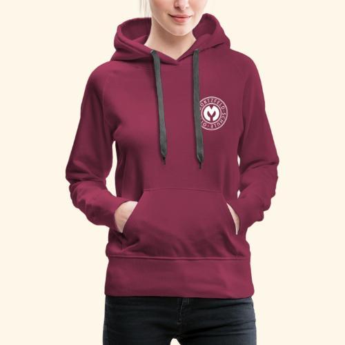 Otto-Mortzfeld-Schule Logo weiss - Frauen Premium Hoodie
