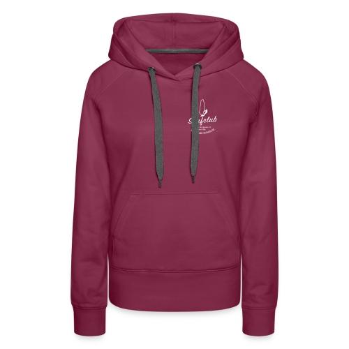 logo_surfclub_weiss_RZ - Frauen Premium Hoodie