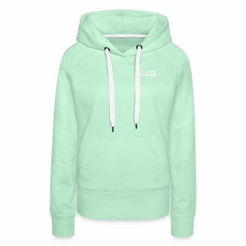 SIX ONE SEVEN 1 PROJECT LOGO FULL 1 WHITE - Women's Premium Hoodie
