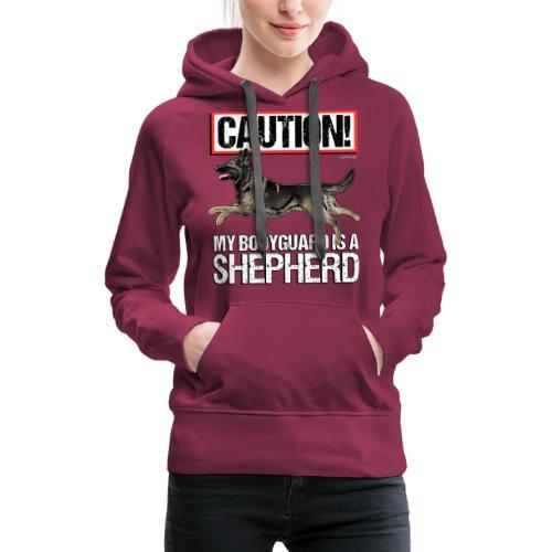 German Shepherd Bodyguard - Naisten premium-huppari